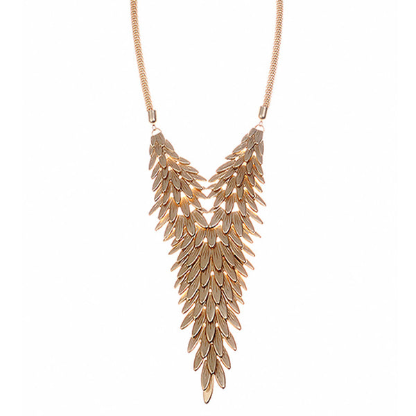 Gold Leaf Cluster Necklace