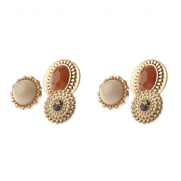 Vintage Three Stud Set in Gold Tone