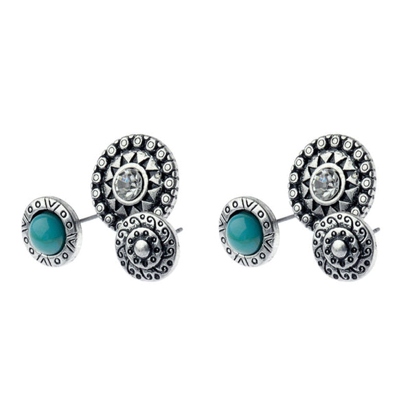 Mexican Inspirations Three Stud Set Turquoise