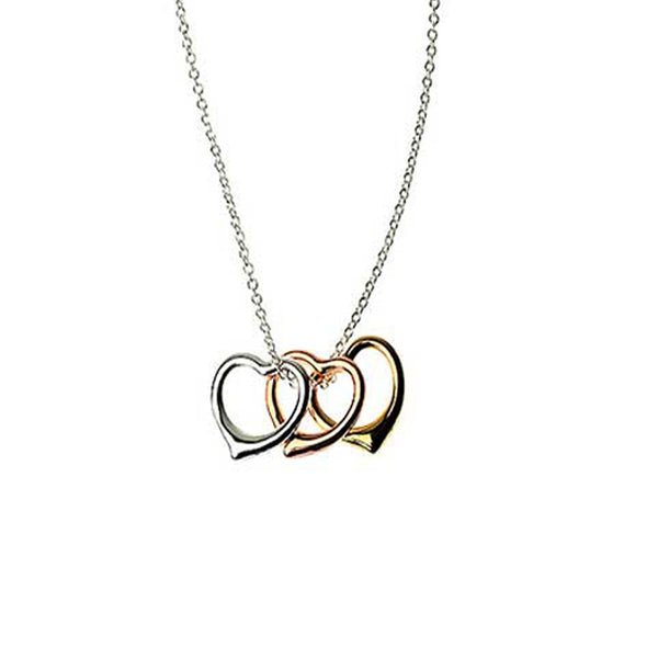 Heart Trio Charm Necklace