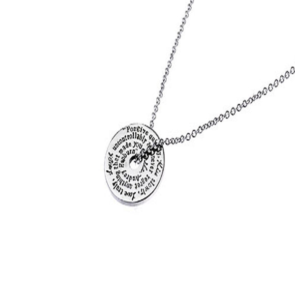 Forgive quickly, Kiss slowly...  Necklace