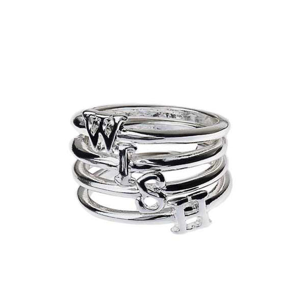 """W-I-S-H"" Set of 4 Rings"