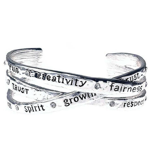 INSPIRATION Poetry Collection Cuff Bangle