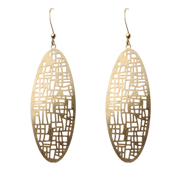 Karma Earrings in Gold Tone