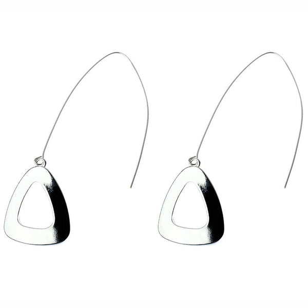 Zedge Drop Earrings Silver