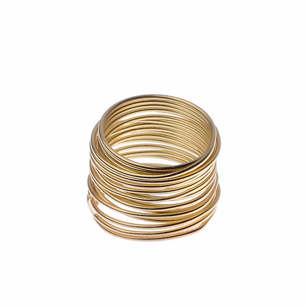 Coiled Gold Tone Ring