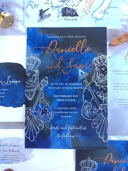 A Wedding Invite fit for a Queen