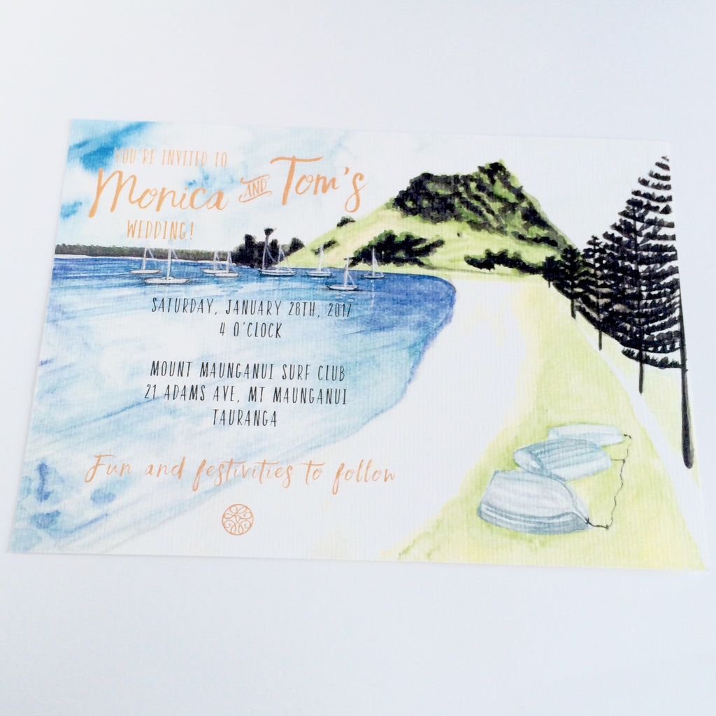 The Bay Invitation Card