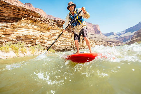 paddle boarding on the Colorado River