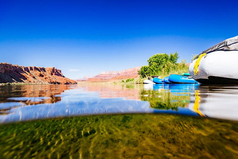 Rafts on the Colorado River