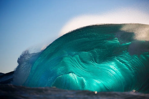 Massive blue wave shot by Lloyd Meudell
