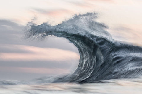 grey wave breaking by Lloyd Meudell