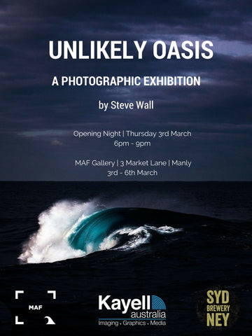 Unlikely Oasis by Steve Wall exhibition flyer