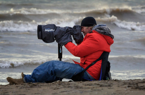 Dave Sandford on location with his AquaTech gear
