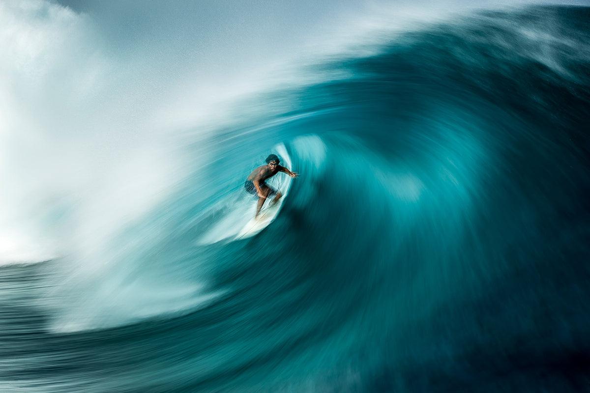 slow shutter image of surfer by Ben Thouard