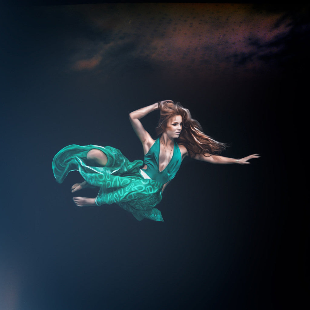underwater model shot by Jesper Anhede
