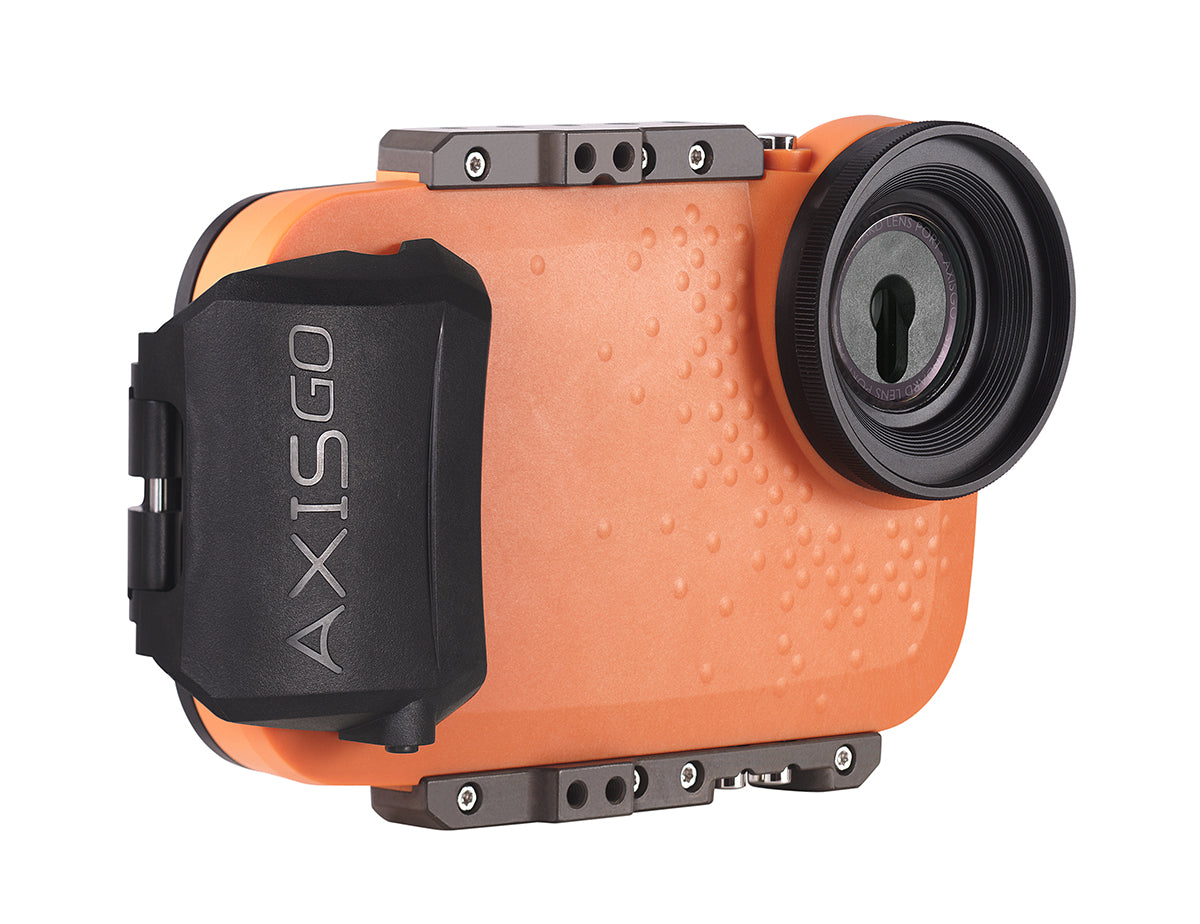 AxisGO for iPhone orange water housing