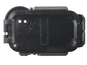 Rear view of AxisGO water housing in Moment Black
