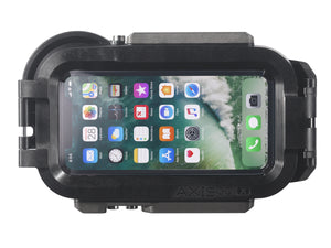 AxisGO water housing with iPhone X inside