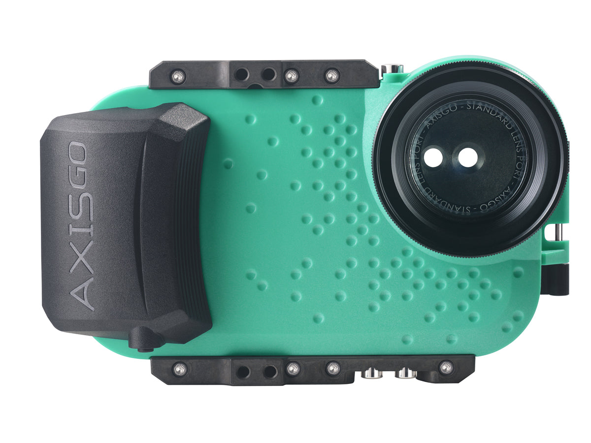 best service ff8e4 a06e7 AxisGO Water Housing for iPhone X - Seafoam Green | AquaTech ...