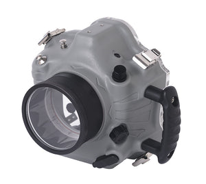 side angle product image of Dephin 1D Canon waterproof camera housing