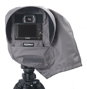 SSCR MEDIUM - Camera Rain Cover over a camera