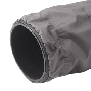 SSRC XLARGE - Camera Rain Cover protecting a camera lens close up