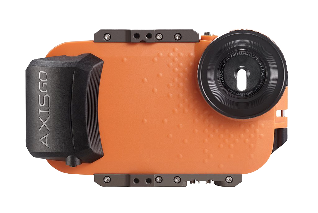 AxisGO 8+ Water Housing for iPhone 7 Plus / iPhone 8 Plus Sunset Orange <br> OPEN BOX