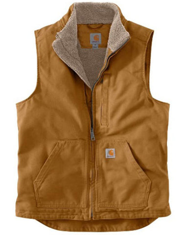 Carhartt Washed Duck Sherpa Lined Mock Vest - Hilton's Tent City