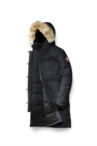 Canada Goose Ladies Kensington Parka Navy at Hilton's Tent City Boston, MA