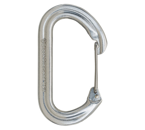 Black Diamond Oval Wire Carabiner - Hilton's Tent City