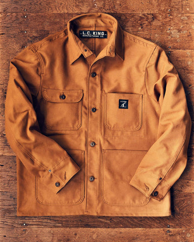 LC King Brown Duck Chore Coat - Hilton's Tent City