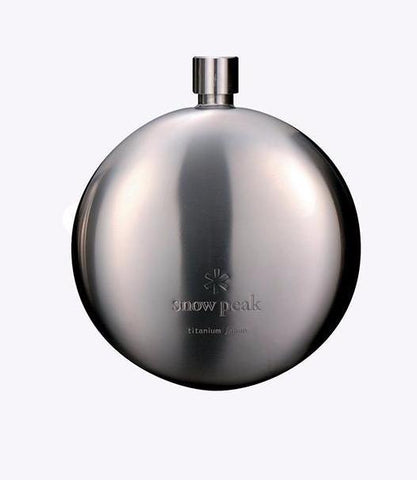 Snow Peak Titanium Curved Flask - Hilton's Tent City