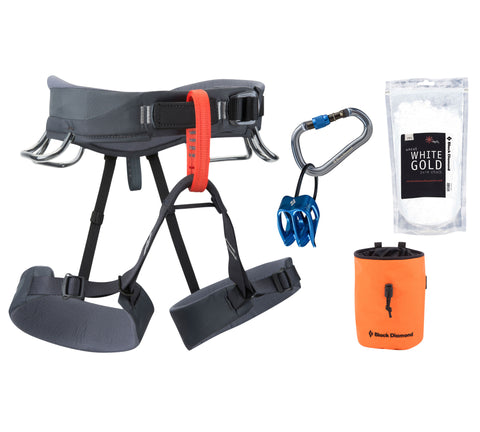 Climbing Equipment - Black Diamond Momentum Harness Package
