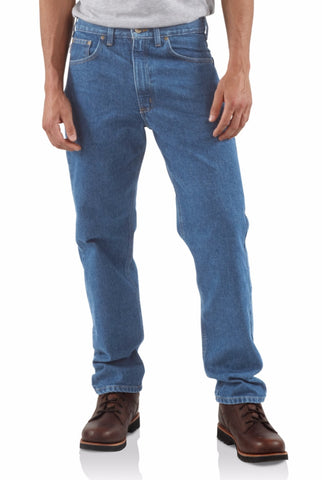 Clothing - Carhartt Straight/Traditional-Fit Tapered-Leg Jean B18