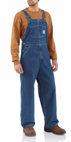 Clothing - Carhartt Washed Denim Bib Overall Unlined R07