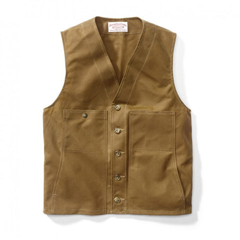 Filson Oil Tin Cloth Vest - Hilton's Tent City