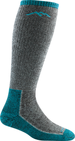 Darn Tough Women's Hike Trek Over the Calf Extra Cushion Boot Socks Midnight