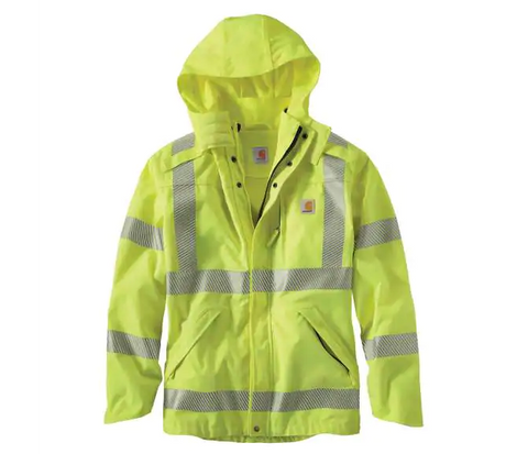Carhartt High-Visibility Class 3 Waterproof Jacket Coat 100499 - Hilton's Tent City