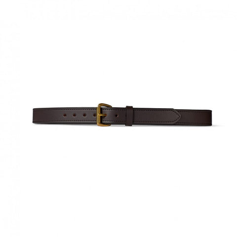 "Filson 1 1/4"" Double Belt Style 63205 Brown with Brass Buckle"
