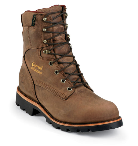 Footwear - Chippewa Bay Crazy Horse Utility Waterproof Insulated 8-inch Tall Men's Boot 29416