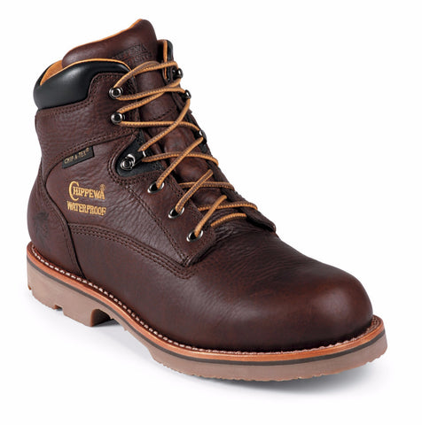 "Footwear - Chippewa Men's 6"" Utility Waterproof Rugged Outdoor Boots"