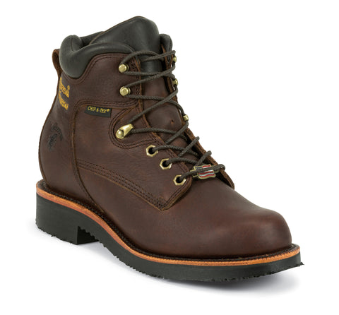 Chippewa Rich Oiled Walnut Utility Waterproof 6-inch Boot 25250 (Discontinued) - Hilton's Tent City