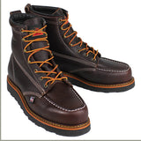 "Footwear - Thorogood 6"" Black Walnut Black Wedge Sole Work Boots 814-4266"