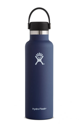 Hydroflask 21 oz Standard Mouth Vacuum Insulated Water Bottle Cobalt