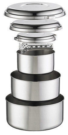 MSR Alpine™ Stainless Steel 4 Pot Set at Hilton's Tent City in Cambridge, MA
