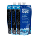 Emergency Water Filtration - Sawyer 32 oz Squeezable Pouch – Set of 3