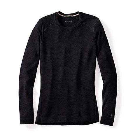 Merino Wool Baselayers - Women's NTS Mid 250 Crew Black