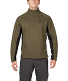 Men's Ski Sweaters - Spyder Pitch Half Zip Heavy Weight Core Sweater Guard Black
