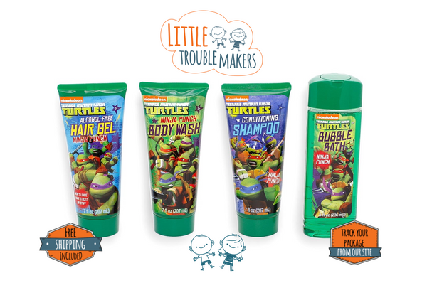 Ninja Turtle Body Wash Shampoo Bubble Bath Hair Gel Set For Boys